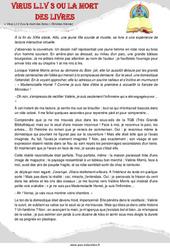 Virus L.I.V 3 ou la mort des livres (sciences fiction) – Cm1 – Cm2 – Récit – Lecture – Cycle 3