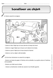 Localiser un objet - Cp - Exercices - Espace - Cycle 2