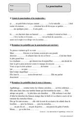 Ponctuation – Cm2 – Exercices corrigés – Grammaire – Cycle 3