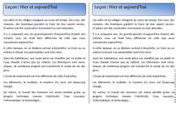 Hier - Aujourd'hui – Cp – Trace écrite – Temps – Leçon – Cycle 2