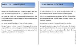 Traces du passé – Cp – Trace écrite – Temps – Leçon – Cycle 2