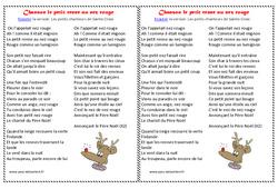 Le petit renne au nez rouge – Poèmes et chansons de Noël – Cycle 2 – Cycle 3