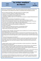 La crêpe magique de Pierre - Lecture - Conte - Chandeleur - Cycle 2