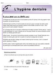 Hygiène dentaire – Cp – Exercices -– Découverte du monde – Cycle 2