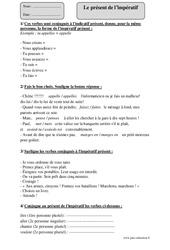 Présent de l'impératif – Cm2 – Exercices corrigés – Conjugaison – Cycle 3