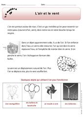 Air - Vent - Cp – Exercices – Matière – Découverte du monde – Cycle 2