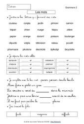 Les mots - La phrase - Le verbe - Grammaire - Ce1 - Français - Cycle 2