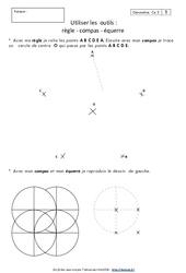 Règle – Compas – Equerre – Ce2 – Exercices