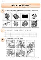 Moi et les autres – Cp – Exercices – Instruction civique – Cycle 2