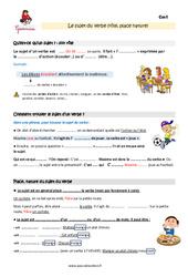Sujet du verbe - Cm1 - Leçon