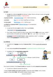 Fonctions sujet et prédicat - Cm1 - Leçon
