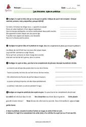 Fonctions sujet et prédicat - Cm2 - Exercices avec les corrections