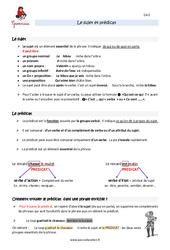 Fonctions sujet et prédicat - Cm2 - Leçon