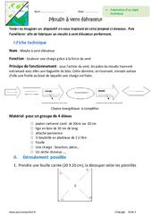 Fabrication, fonctionnement – Objet technique – 6ème – Exercices
