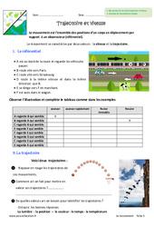 Trajectoire et vitesse - 6ème - Exercices