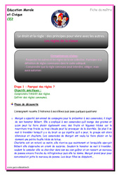 Règles de la classe – Ce2 – EMC