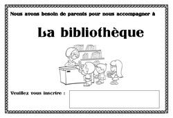 Affiche accompagnement bibliothèque – Affichages pour la classe – Maternelle – PS – MS – GS