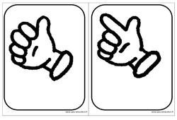 Cartes doigts - Affichages pour la classe – Maternelle – PS – MS – GS