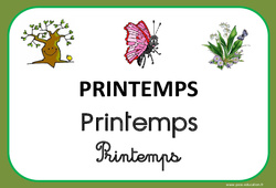 Printemps – Saison – Affichages pour la classe – Maternelle – PS – MS – GS - CP