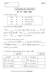 Présent du verbe être – Ce1 – Exercices - Conjugaison – Français – Cycle 2