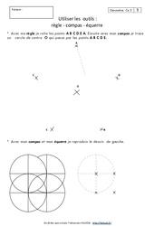 Règle – Compas – Equerre – Ce2 – Exercices à imprimer
