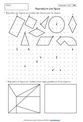 Reproduire une figure – Ce2 – Exercices corrigés