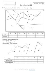 Polygones – Cm1 – Exercices corrigés – Géométrie – Cycle 3