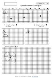 Agrandissement d'une figure – Cm2 – Exercices corrigés – Géométrie – Cycle 3