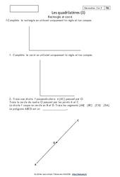 Quadrilatères – Cm2 – Exercices corrigés – Géométrie – Cycle 3