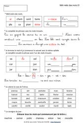 Vocabulaire ludique – Ce1 – Exercices corrigés – Français – Cycle 2
