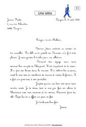 Une lettre – Ce1 – Lecture fonctionnelle – Français – Cycle 2