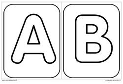Décorer l'initiale de son prénom - Alphabets – Affichages pour la classe – Maternelle – PS – MS – GS