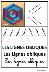 Lignes obliques – Graphisme – Affichages pour la classe – Maternelle – PS – MS – GS