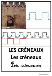 Créneaux – Graphisme – Affichages pour la classe – Maternelle – PS – MS – GS