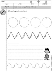 Graphisme – Maternelle – Petite section – Moyenne section – Cycle 1