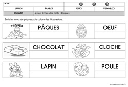 Pâques – Ecriture – Maternelle – Petite section – Moyenne section – Cycle 1