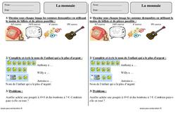 Monnaie – Ce1 – Exercices corrigés – Mesures – Mathématiques – Cycle 2