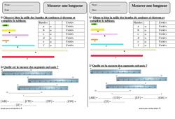 Mesurer une longueur – Ce1 – Exercices corrigés – Mesures – Mathématiques – Cycle 2
