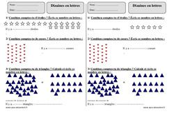 Dizaines en lettres – Ce1 – Exercices corrigés – Numération – Mathématiques – Cycle 2