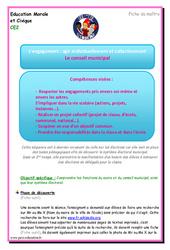 Conseil municipal – Ce2 – EMC – Fiche de préparation