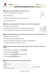 Compléments du verbe – Cm1 – Exercices avec les corrections