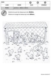 Dedans - Dehors - Espace – Maternelle – Petite section – Moyenne section - Cycle 1