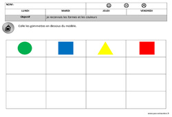 Formes – Couleurs – Maternelle – Petite section – Moyenne section – Formes – Cycle 1