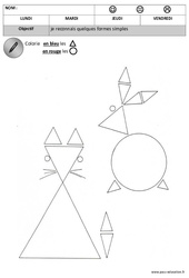Rond - Triangle – Maternelle – Petite section – Moyenne section – Formes – Cycle 1