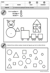 Formes – Maternelle – Moyenne section – Grande section – Cycle 1 – Cycle 2