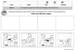 Ordre chronologique - Images séquentielles - Maternelle – Petite section – Moyenne section – Temps – Cycle 1