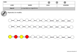 Algorithmes – Couleurs – Graphismes – Maternelle – Petite section – Moyenne section – Cycle 1