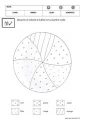 Coloriage codé - Graphisme – Maternelle – Logique - Petite section – Moyenne section – Cycle 1