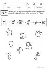 Trouver le bon chemin – Maternelle – Logique - Petite section – Moyenne section – Cycle 1