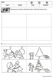 Images séquentielles – Temps – Noël – Maternelle – Petite section – Moyenne section – Cycle 1